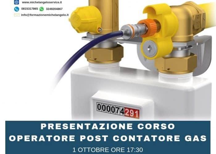 PRESENTAZIONE CORSO OPERATORE POST CONTATORE GAS (UNI 11554)